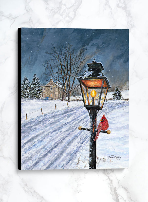 winterberry canvas winter landscape painting