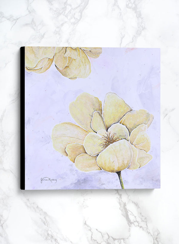 yellow rose 1 canvas floral painting