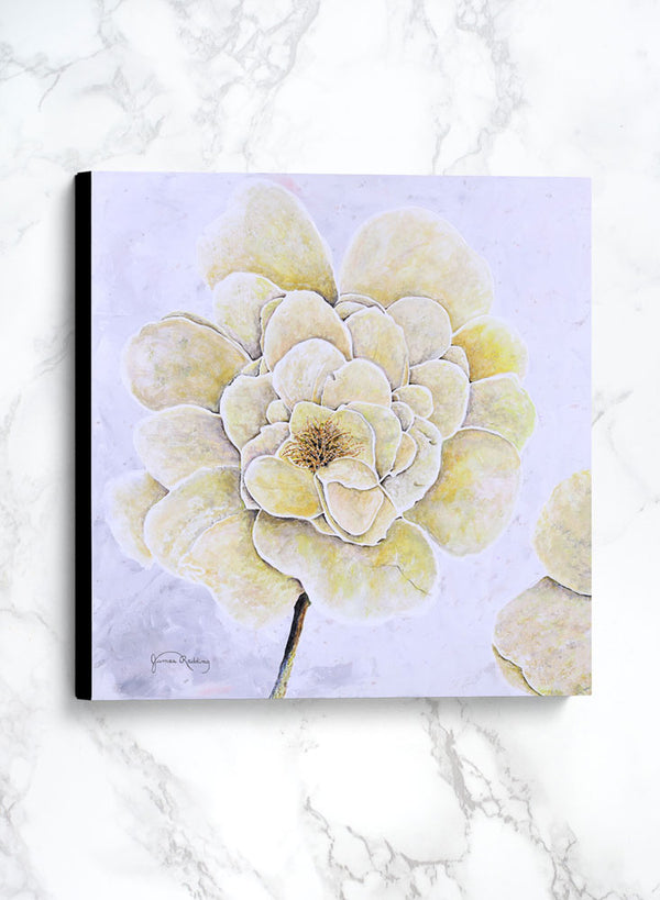 yellow rose 2 canvas floral painting