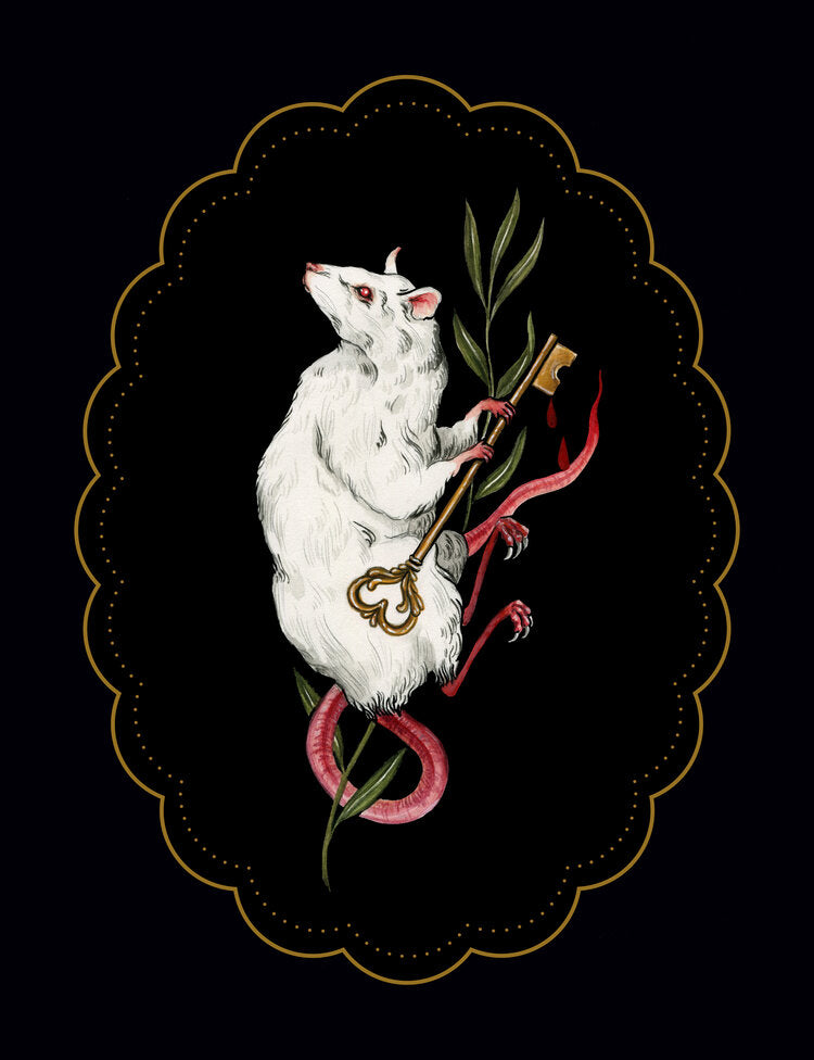 Albino Jackrabbit Rat Secret Keeper Print