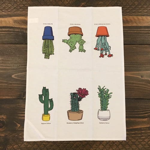 Ah Ha Brands CatCus Tea Towel