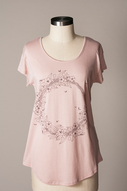 Flytrap Jessamine Relaxed Fit Tee in Rose