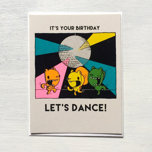 Everyday Balloons It's Your Birthday Let's Dance Card