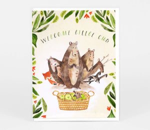 Loose Leaves Welcome Little Cub Card