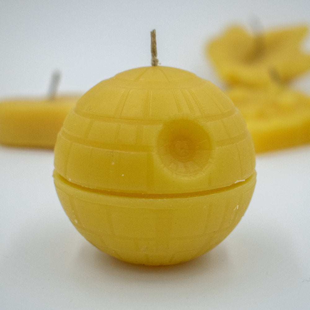 Beeswax Death Star Candle