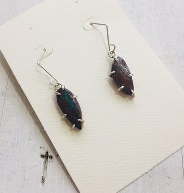 Aimee Petkus Boulder Opal Mineral Specimen Earrings