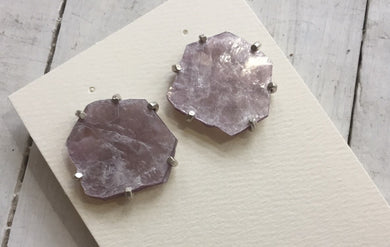 Aimee Petkus Lepidolite Mica Mineral Specimen Earrings
