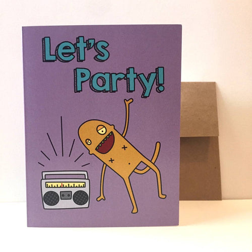 Box Robot Army Let's Party Card
