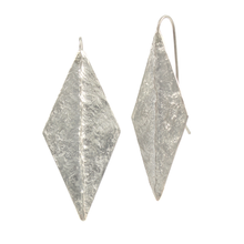 Amanda Hagerman Large Diamond Ridge Earrings Arg Silver