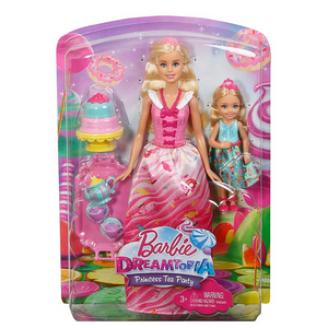 Mattel FDJ19 Barbie - Bonbon Prinzessin - Tee Party mit Barbie und Chelsea