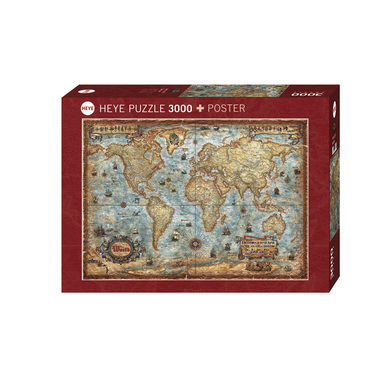 Heye 388/29275 Puzzle - The World - 3000 Teile