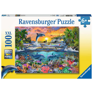 Ravensburger 10950 Kinder-Puzzle - # 100 - Tropisches Paradies