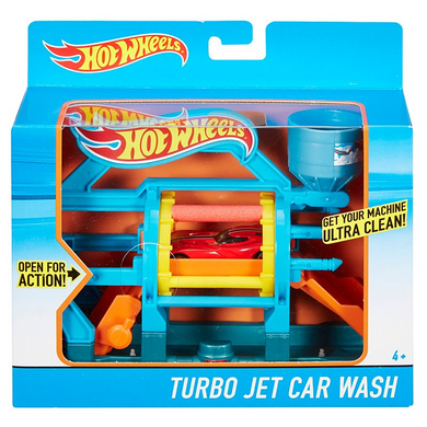 Mattel DWL00 Hot Wheels - Turbo Jet Car Wash - Waschanlage - Spielset zum Ausklappen