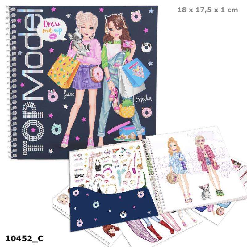 Depesche 010452 TOP Model - Dress Me Up Stickerbuch