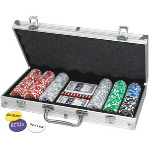 Fun Trading 62506466 Metall-Pokerkoffer-  300 Laser-Chips - 11.5g