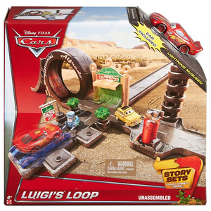 Mattel CDW67 Disney Cars - Spiel-Set Luigi's Loop