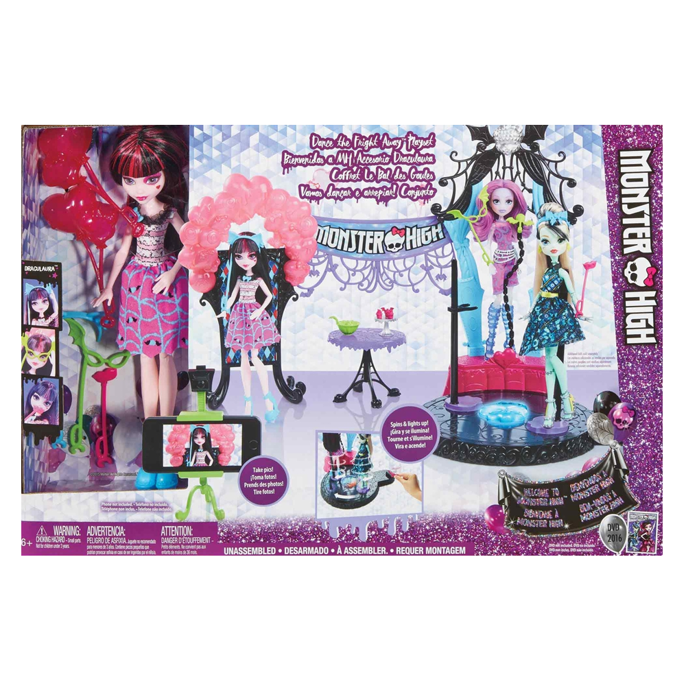 Mattel DNX68 Monster High - Fright Away Spielset inklusive Draculaura Puppe