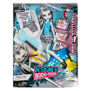 Mattel DNM27 Monster High - Modedesigner Buuuh-Tique inklusive Frankie Stein Puppe
