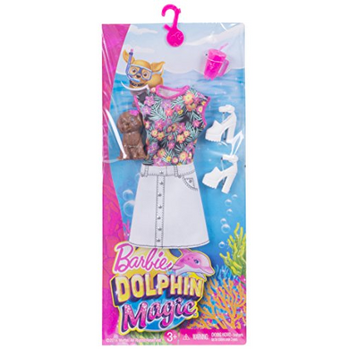 Mattel FBD87 Barbie - Dolphin Magic - Sommerkleid und Hund