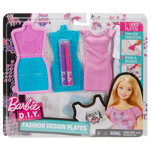 Mattel DYV67 Barbie - Mode-Muster Set - lila-türkis