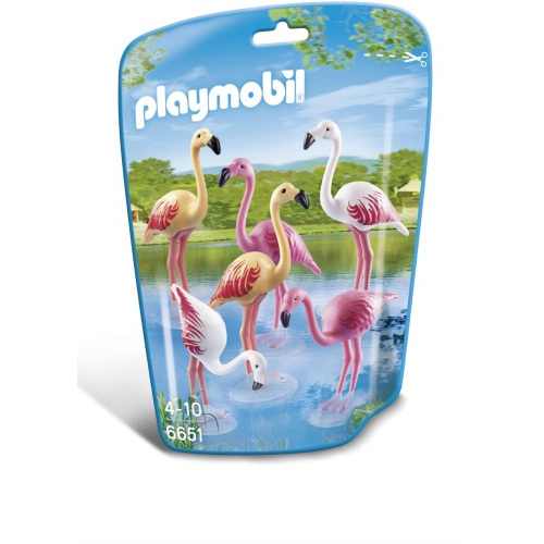 Playmobil 6651 City Life - Zoo - Flamingoschwarm