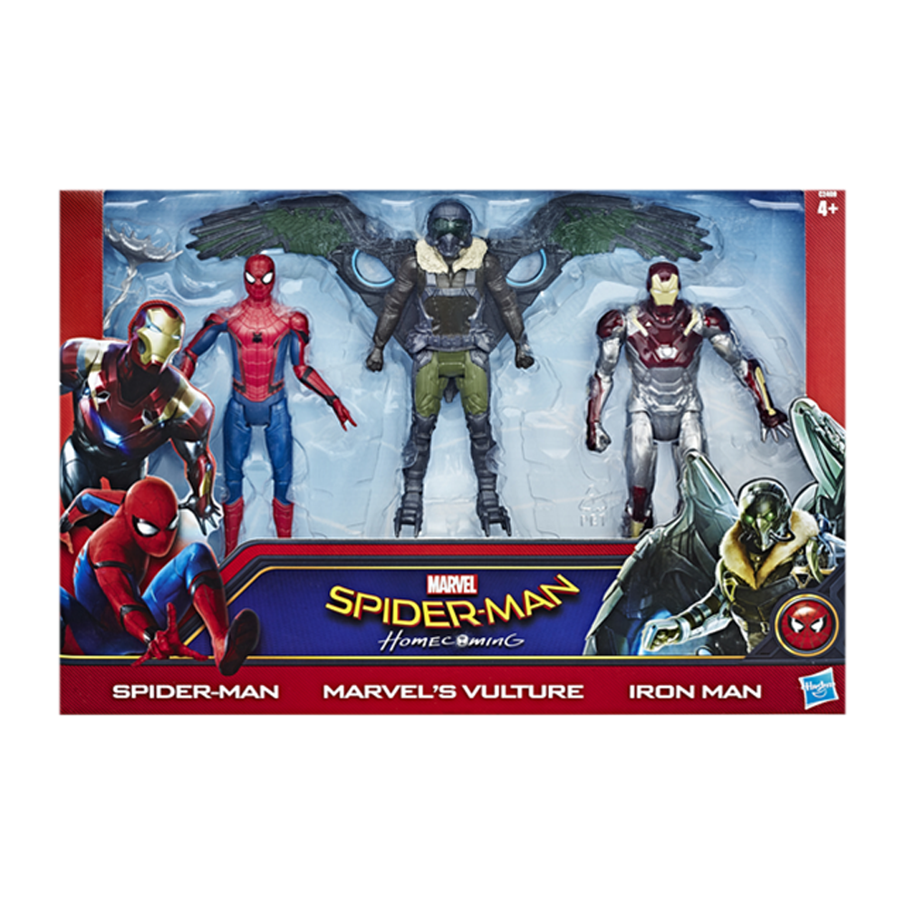 Hasbro C2408 Spiderman - Homecoming - 3-Figuren-Set - - Vulture - Iron-Man