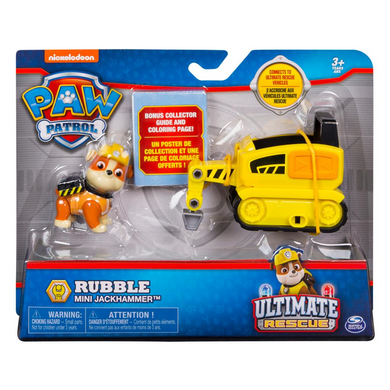 Spin Master 20101481 Paw Patrol - Ultimate Rescue -  Rubble mit Presslufthammer-Wagen