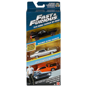 Mattel FCG02 Hot Wheels - Fast & Furious - 3er Set