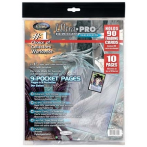 Ultra Pro 81359 Platinum Pages 9-Pocket Bag - 10 Seiten