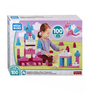 Mattel Mega Bloks - First Builders - Girls Colors - 100 Teile
