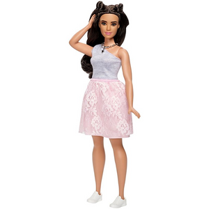 Mattel DYY95 Barbie Fashionistas - - # 65 - Powder Pink Lace – Curvy Model