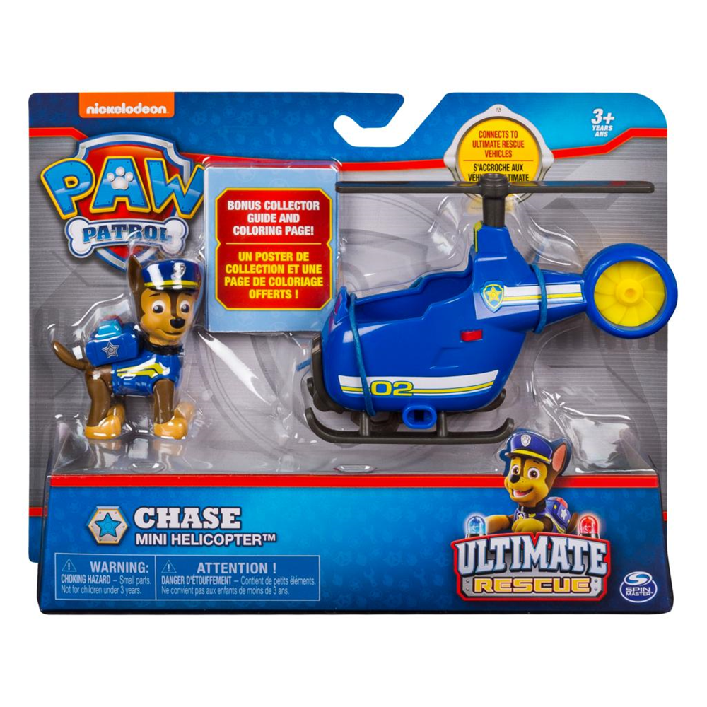 Spin Master 20101478 Paw Patrol - Ultimate Rescue - Chase mit kleinem Helikopter