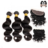 Brazilian Frontal And 3-Bundle Deal