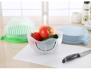 60 Second Salad Cutter Bowl Kitchen Gadget Vegetable Fruits Slicer Chopper Washer
