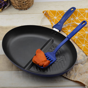 Aluminium Frying Pan With Slotted Nylon Spatula Non Stick Omelette Skillet Pans Cookware Set Kitchen Cooking Tool