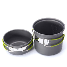 Load image into Gallery viewer, NEW Outdoor Camping Hiking Cooking Portable Nonstick Bowl Pots Pans Cookware Set