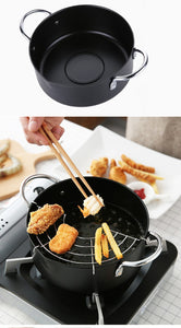Meltset New Stainless Steel Deep Frying Pan
