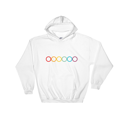 Rainbow Circle Hooded Sweatshirt