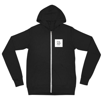 Fluffy Sadist Club Zip Hoodie (Wht Sq Edition)