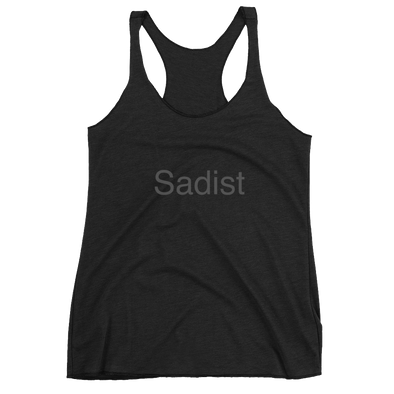 "Women's ""Sadist"" Black-On-Black Racerback Tank"