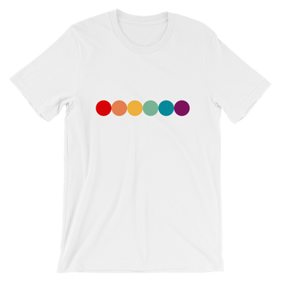 Short-Sleeve Rainbow Unisex T-Shirt