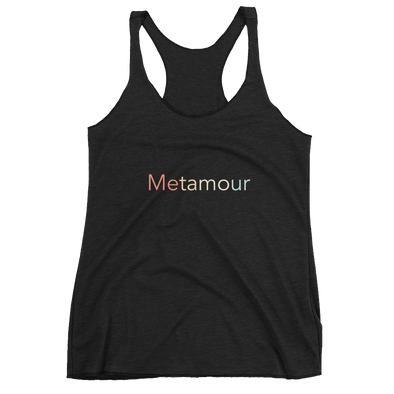 "Women's Faded Rainbow ""Metamour"" Racerback Tank"