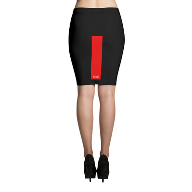 緊縛 Pencil Skirt (Kinbaku Red Stripe Edition)