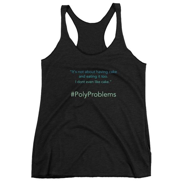 "Women's ""Poly Problems"" Racerback Tank CodeNameV"