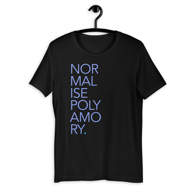 Normalise Poly Tee (Stacked Edition) (UK Spelling)