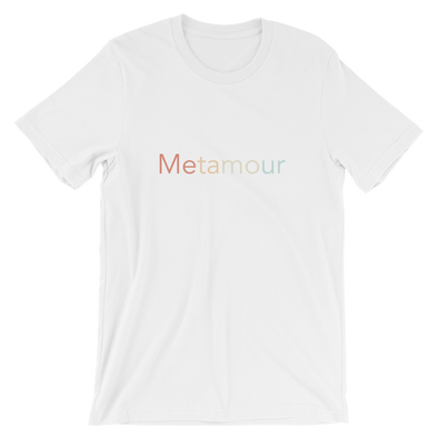 Faded Rainbow Metamour Tee: White