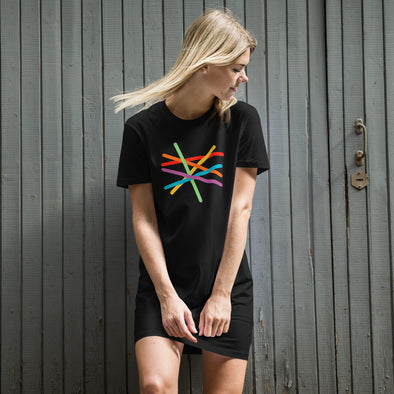 Twisted Pride Flag T-Shirt Dress