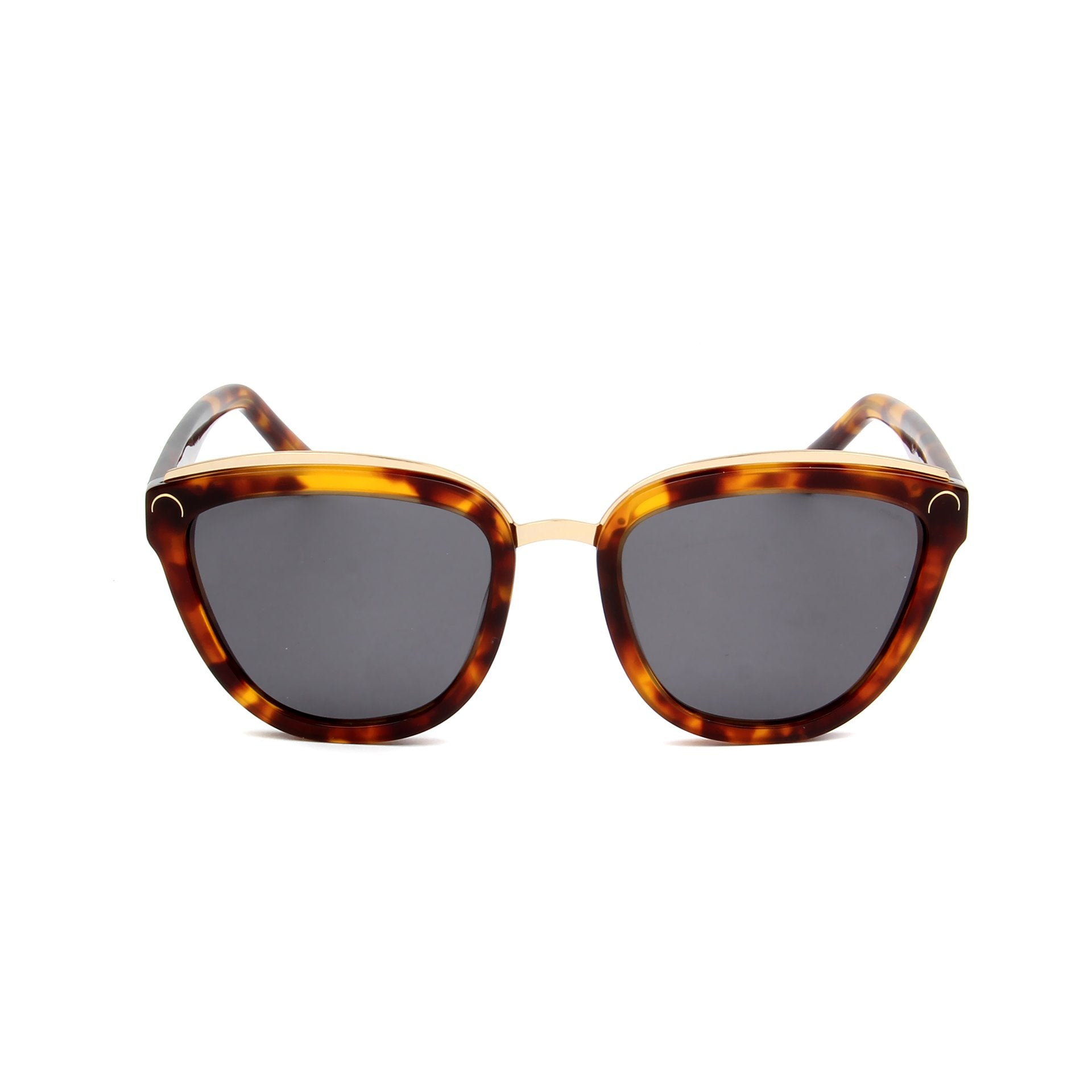 Amelie Tortoise - Front View - Grey lens - Mawu Sunglasses