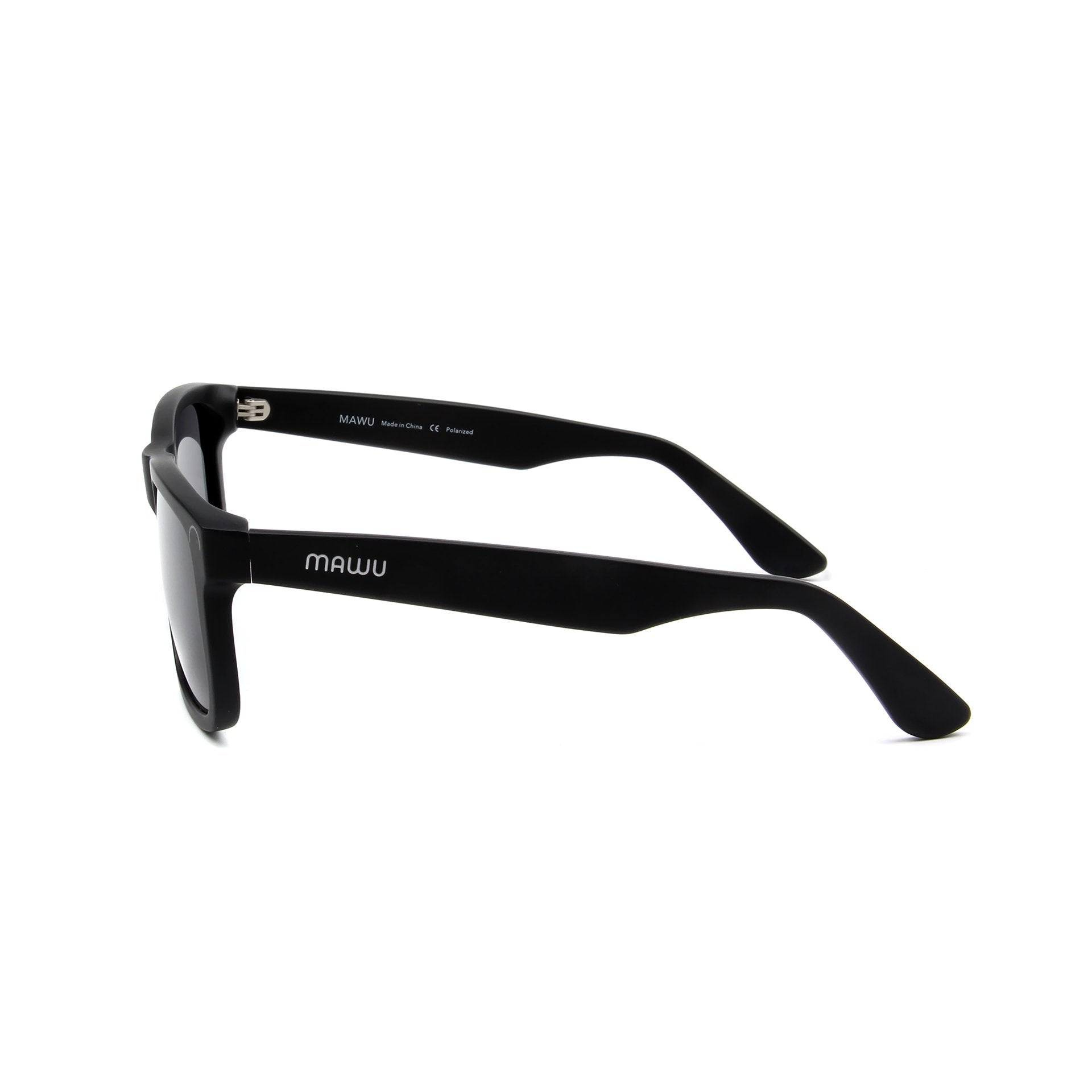 Corsica Matte Black - Side View - Grey lens - Mawu Sunglasses