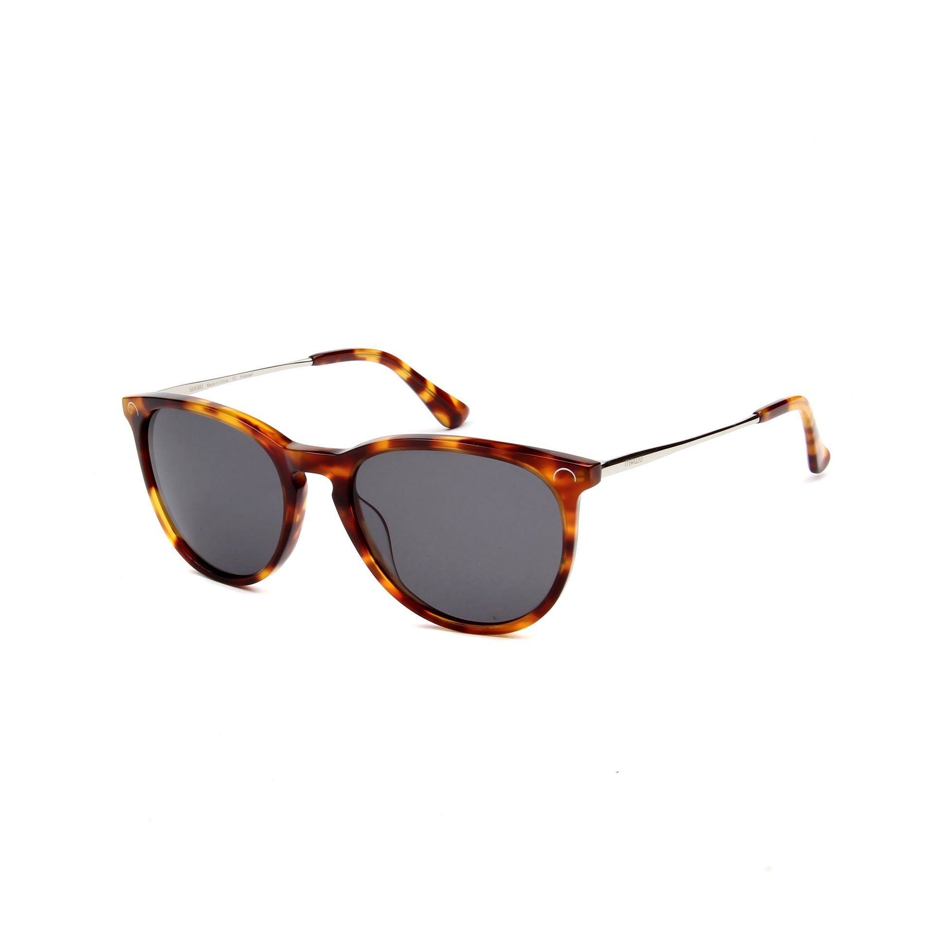 Ovea Tortoise - Angle View - Dark Grey lens - Mawu sunglasses
